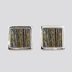 forest trees Camo Camouflage  Square Cufflinks