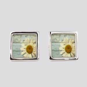 shabby chic country daisy Square Cufflinks