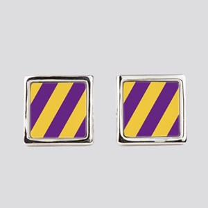 Roya Purple and Pure Gold Square Cufflinks