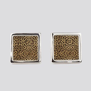 Leopard Animal Print Square Cufflinks