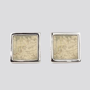 Vintage Map of Iceland (1819) Square Cufflinks