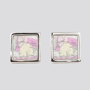 Vintage Brookhaven and Fire Islan Square Cufflinks