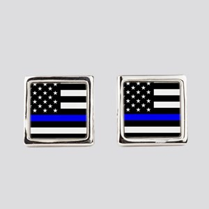 Police: Black Flag & The Thin Blue Line Square Cuf