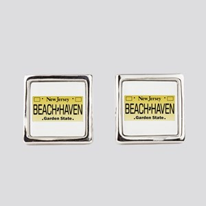 Beach Haven NJ Tag Giftware Square Cufflinks