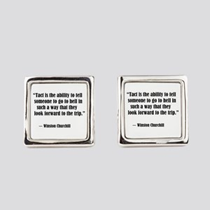tact:Winston Churchhill Square Cufflinks