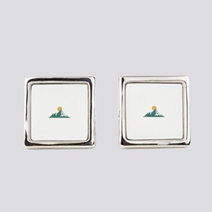 Sunrise Mountain Square Cufflinks
