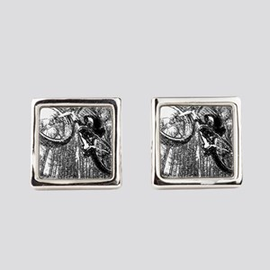 Flying fatbike Square Cufflinks