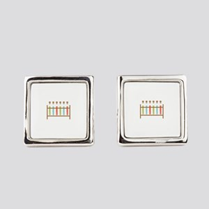 Test Tubes Square Cufflinks