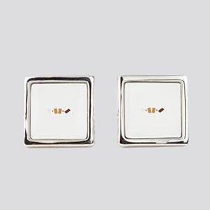 Smores Ingredients Square Cufflinks