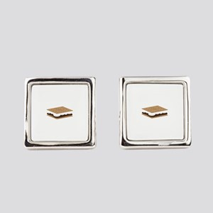 SMore Cracker Square Cufflinks