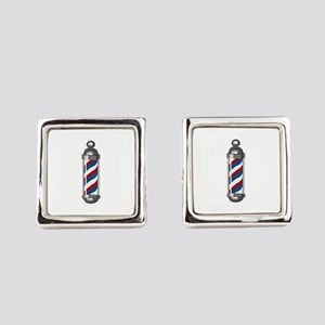 Barber Pole Square Cufflinks