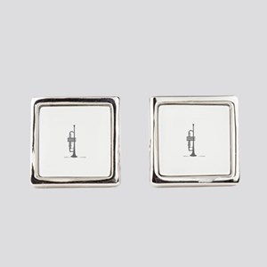Upright Trumpet Square Cufflinks