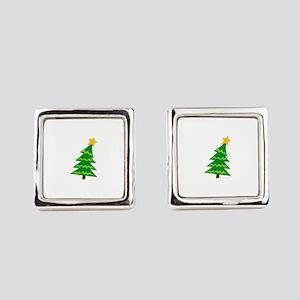 CHRISTMAS TREE MINI Square Cufflinks