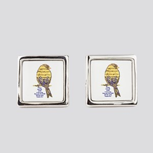 Psalm 96:1 Sing Unto The Lord Square Cufflinks