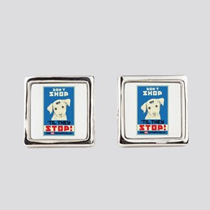 Say No To Puppy Mills Square Cufflinks