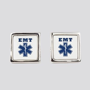 EMT Blue Star Of Life* Square Cufflinks