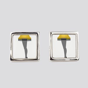 leg lamp Square Cufflinks