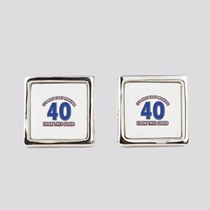 It's Not Easy Making 40 look This Square Cufflinks