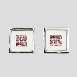 57 Turn Back Birthday Designs Square Cufflinks