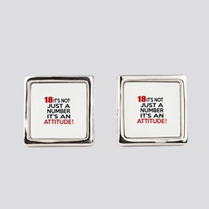 18 It Is Not Just a Number Birthd Square Cufflinks