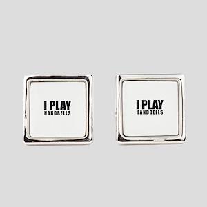I Play Handbells Square Cufflinks