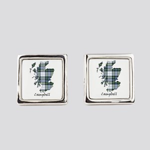 Map-Campbell dress Square Cufflinks