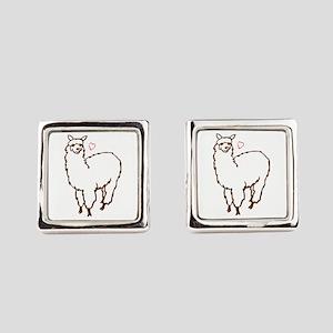Cute Alpaca Square Cufflinks