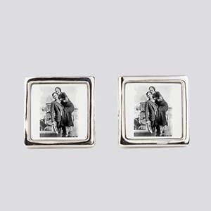 Bonnie and Clyde Square Cufflinks
