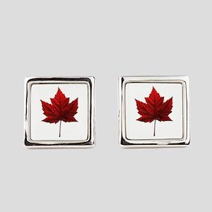 Canada Maple Leaf Square Cufflinks