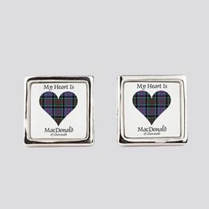 Heart-MacDonald of Clanranald Square Cufflinks