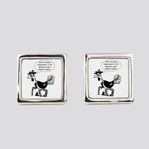 Knee Replacement Surgery - Fun Qu Square Cufflinks