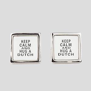 Keep Calm And Dutch Designs Square Cufflinks