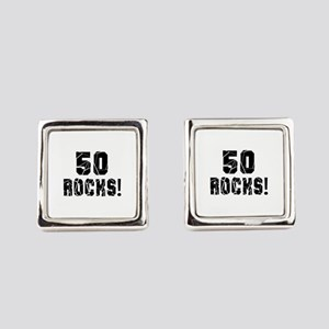 50 Rocks Birthday Designs Square Cufflinks