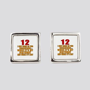 12 birthday Designs Square Cufflinks