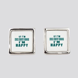 If I Am Cross Country Running Square Cufflinks