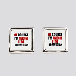 Of Course I Am Norwegian Square Cufflinks