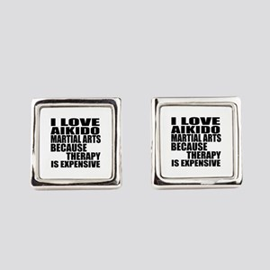 Aikido Martial Arts Therapy Square Cufflinks