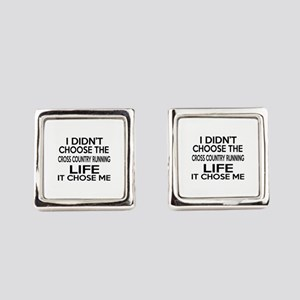 Cross Country Running It Chose Me Square Cufflinks