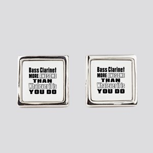 Bass Clarinet More Awesome Square Cufflinks