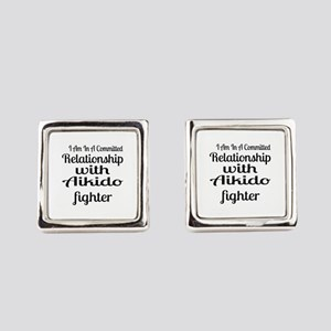 Relationship With Aikido Fighter Square Cufflinks