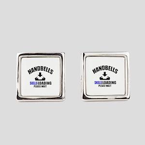 Handbells Skills Loading Please W Square Cufflinks
