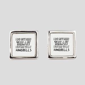 I Just Need To Play Handbells Mus Square Cufflinks
