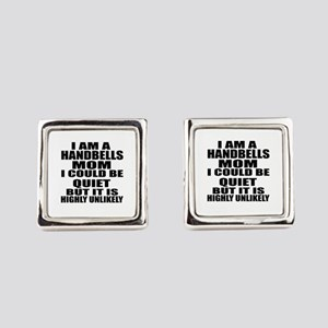 I Am a Handbells Square Cufflinks
