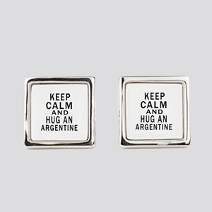 Keep Calm And ARGENTINE or Design Square Cufflinks