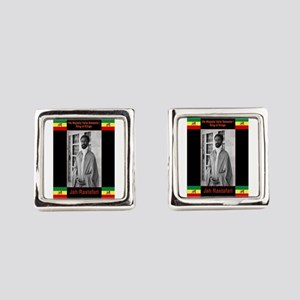 Haile-Selassie-Jah_Rastafari Square Cufflinks