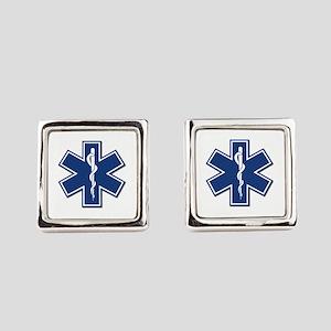 EMS EMT Rescue Logo Square Cufflinks