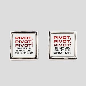 'Pivot!' Square Cufflinks