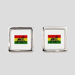 Rastafari Flag Square Cufflinks