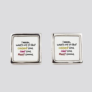 'What's Not To Like?' Square Cufflinks
