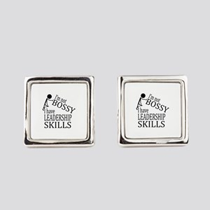 I'm Not Bossy | I Have Leadership Square Cufflinks